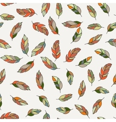 seamless pattern of feathers Doodle vector image