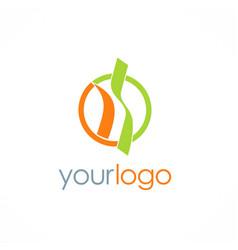 shape unusual round logo vector image
