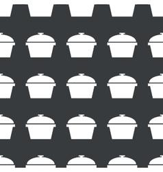 Straight black pot pattern vector image