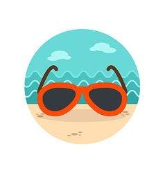 Sunglasses icon Summer Vacation vector image vector image