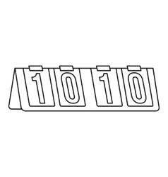 Tennis scoreboard icon outline style vector