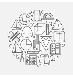 Trigonometry and geometry vector image vector image