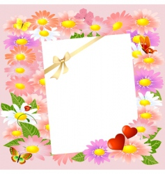 valentine letter to the flowers vector image vector image