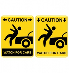 warning sign vector image vector image