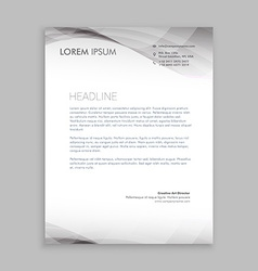 wave style business letterhead design vector image vector image