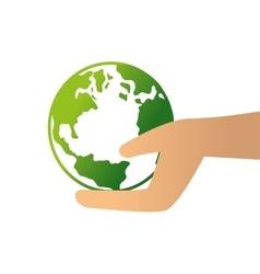 World planet ecology symbol vector
