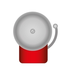 Boxing bell isolated icon vector