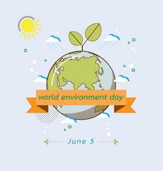 Eco earth in retro style vector