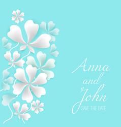 save the date greeting card with place for your vector image