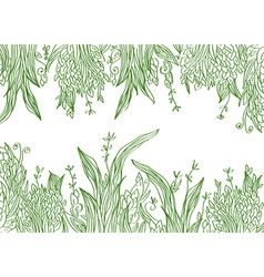 Grass banner artistic vector image