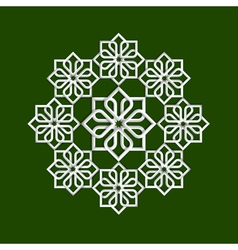 3d flower pattern in arabic style vector