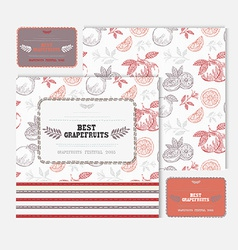 Fruit cards set vector