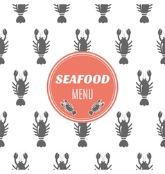 Seafood menu with lobster vector