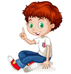 English boy with red hair vector