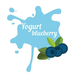 Splash of blueberry yogurt vector image