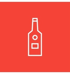 Glass bottle line icon vector