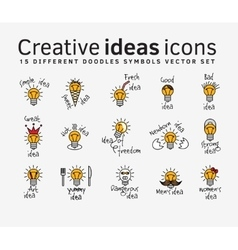 Creative ideas color flat icons symbols set vector