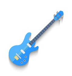 Electro Guitar Flat Design isolated on white vector image