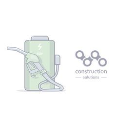 alternative energy and creative logo vector image