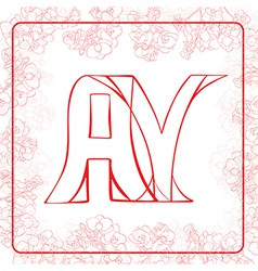 Ay monogram vector
