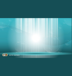 Blue waves lights sparkling effects background vector