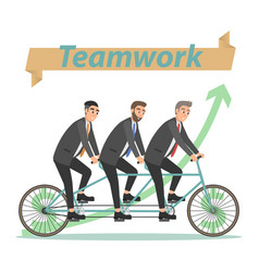 business concept teamwork vector image