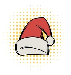 Christmas hat comics icon vector image