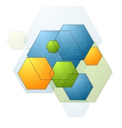 Colorful bright geometry hexagons background vector