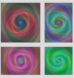 Colorful motion design brochure background set vector image
