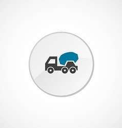 Concrete mixer icon 2 colored vector