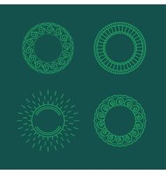 contour frames vector image