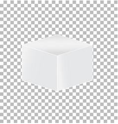 cube transparent icon on white background cube vector image vector image