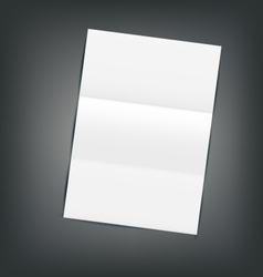 Empty Paper Sheet with Shadows vector image vector image