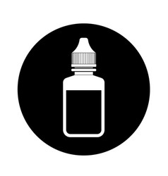eye drop icon vector image vector image
