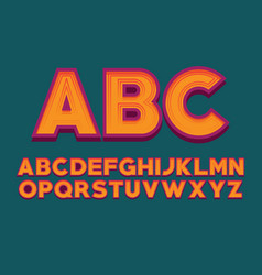 font design alphabet letter image english vector image vector image