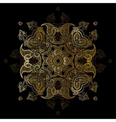 Gold mandala vector