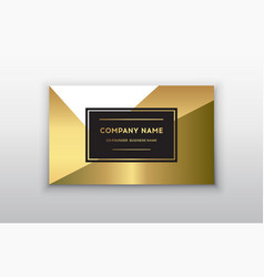 golden business card vector image vector image