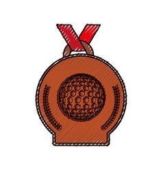 Golf winner medal vector