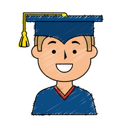 Graduated avatar character icon vector