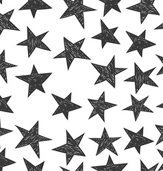 Hand drawn pattern from stars vector image vector image