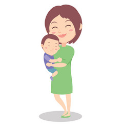 Happy mother style character vector
