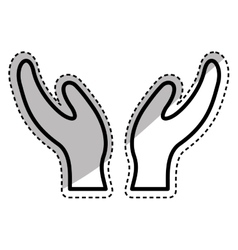 Human hand silhouette vector image