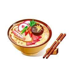 icon noodles vector image