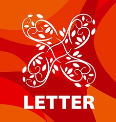 Logo of the letter x floral ornament vector