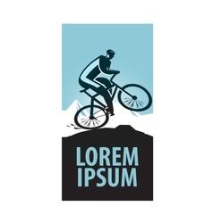 Mountain bike logo design template sports vector