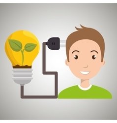 people and electricity isolated icon design vector image