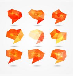 set of triangular speech bubbles vector image vector image