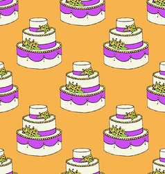 Sketch wedding cake vector image vector image