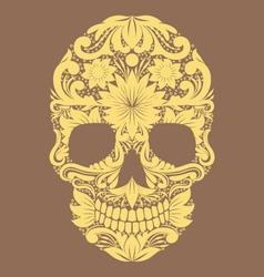 Skull Ornamental Flower vector image
