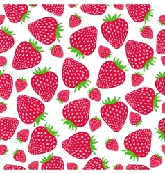 Cute seamless pattern with strawberries vector